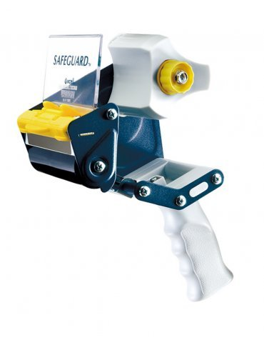 T.R.U. EC-406 Blue/Gray Premium Carton Sealing Hand Held Tape Dispenser: 4 in. wide (3 in. core) (Pack of 10)