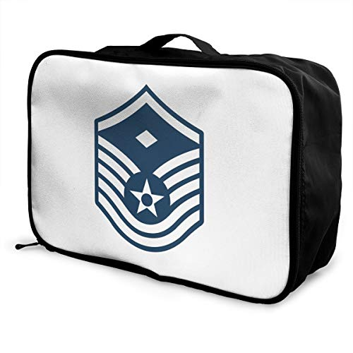PLOR Air Force Master Sergeant 1st SGT Diamond Rank Travel Duffel Bag Portable Weekend Luggage Bag Backpack Funny Novelty