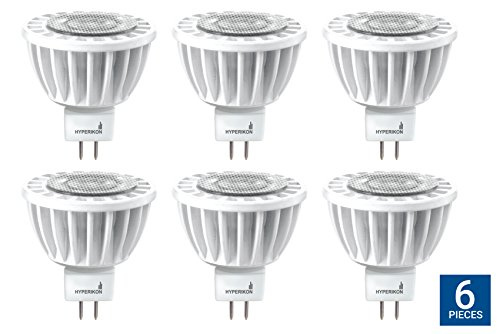 Hyperikon MR16 GU5.3 LED 7W (50W Replacement), 2700K (Warm White), CRI90+, 490lm, Spot Light Bulb, Dimmable, UL & Energy Star - For Living Room, Track Lighting, Bedroom, Spotlight (6 Pack) - Led Mr16 Spotlight