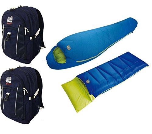 Kodiak 0F Sleeping Bag Combo Set High Peak USA Alpinizmo Redwood -5F Sleeping Bag One Size Red//Blue