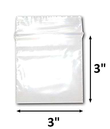 """Top Quality 200 3/""""X10/"""" Clear Reclosable Zip Lock Bags 2mil Jewelry Bag"""