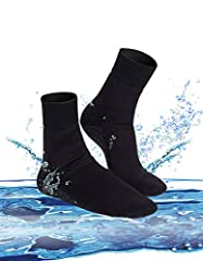 Neoprene: Sport Skin Sock is the essential footwear for all of your summer, outdoor needs. No more burning feet from the hot sand, blisters from friction, or sunburn. The adjustable cuff allows you to get the perfect fit to prevent slipping...