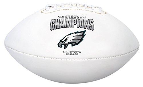 Jarden Sports Licensing NFL Philadelphia Eagles SB52 Champion Domestic Football - Philadelphia Eaglessb52 Champion Domestic Football - Philadelphia Eagles, White, Youth Size by Jarden Sports Licensing