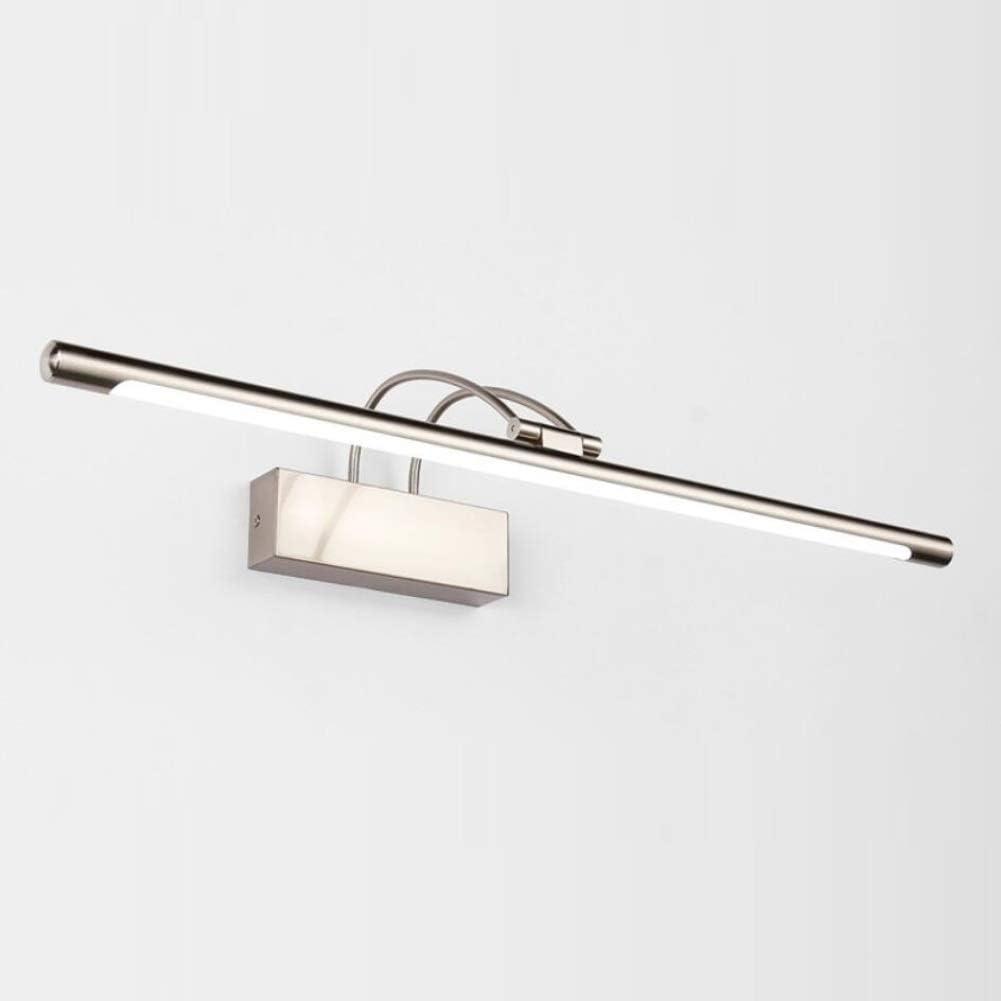 ZHAS Lámpara Delantera de Espejo de LED Lámparas Antiguas de Espejo de vanidad de baño, Pantalla acrílica de luz Blanca cálida, luz de vanidad de Bronce frotada con Aceite antivaho Impermeable, B: