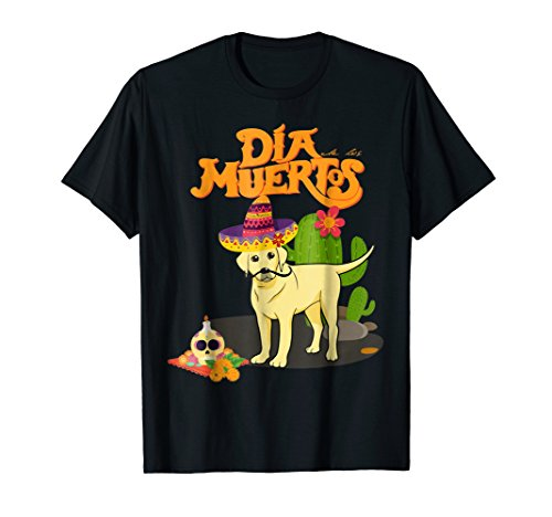 Dia De Los Muertos Labrador Retriever Dog  Costume Shirt