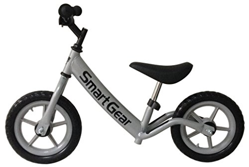 Et Bike Costume (Smart Gear My First Smart Balance Bike Ultra-Lightweight Frame Kids Bike - Metallic Silver 12