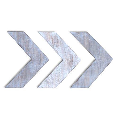 "Barnyard Designs Rustic Farmhouse Chevron Arrows Wood Wall Decor 15"" x 11.75"" (Set of (Arts And Crafts Sideboard)"