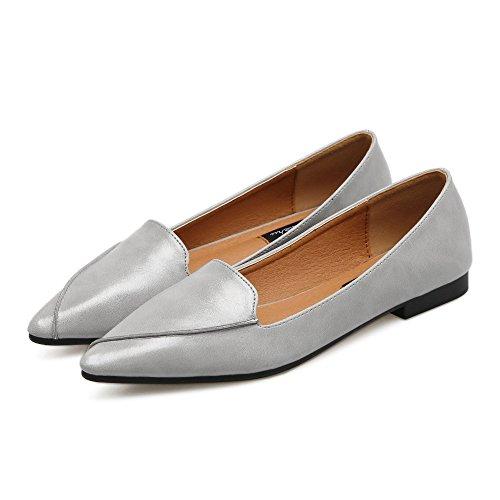 luz de la Mujer Zapatos Gris Plano Mujeres Punta Xue con Plana de Bajos Zapatos Calzado Qiqi versátil de con Zapatos Commuter Solo y 45SRq