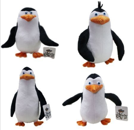 Plush Madagascar Toys - The Penguins of Madagascar 4pcs Plush Soft Toys 8