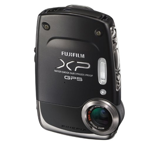 Fujifilm FinePix XP30 14 MP Waterproof Digital Camera with Fujinon 5x Optical Zoom Lens and GPS Geo-Tagging Function (Black)