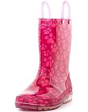 HugRain Girls Glitter Rain Boots