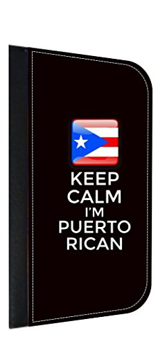 Keep Calm I'm Puerto Rican Leather and Suede PU Case Compatible with the Apple iPad« Air Version 1-Made in the - San Outlets Juan