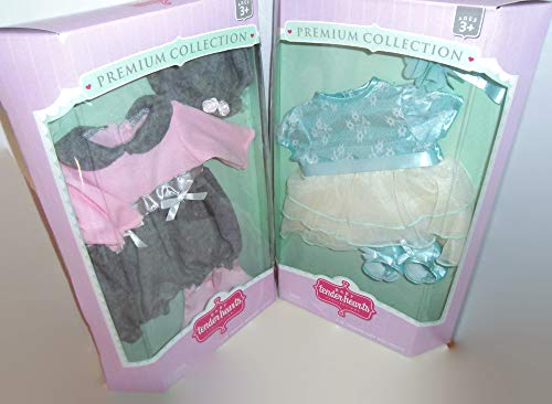 Baby tender hearts 2 Sets Premium Baby Doll Clothes / Outfits for 16 in. Dolls Gift Sets