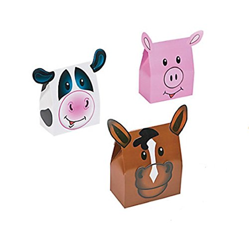 Farm Animals Party Supplies (Farm Party Favor Boxes (1 Dozen))