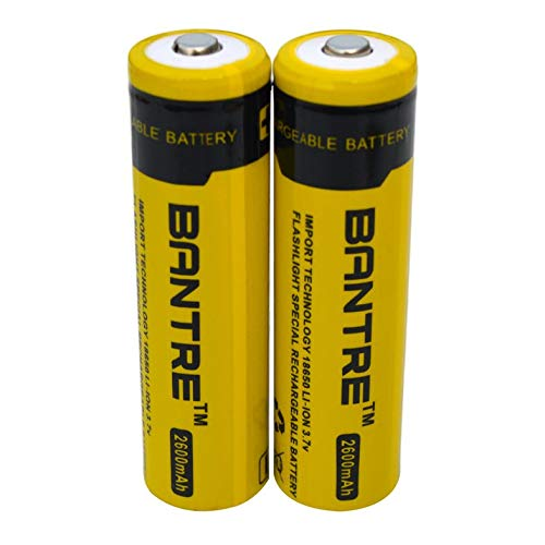dianagold Original BANTRE 18650 Li-Ion Battery 2600mah 3.7V Rechargeable Battery