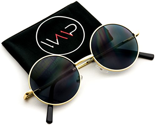New Retro Vintage Lennon Inspired Round Metal Small Circle Sunglasses (Sunglasses For Men Round)