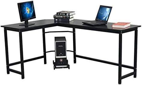 SoSo-BanTian1989 Modern L-Shaped Desk Corner Computer Desk
