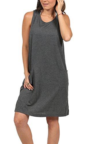 Dress Beach Short Grey Cotton Ingear Cover Shift Solid Tank Summer Dress Up 0nW7qS4d