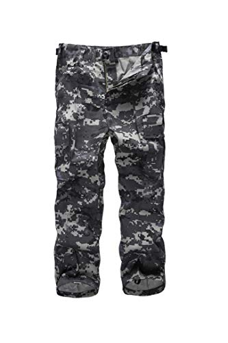 - BACKBONE Boys Girls Kids Combat Army Ranger Camping Outdoor camo Cargo Pants Trousers (Size XS = Waist 24