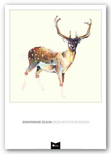 - Deer Wearing Gym Socks by Charmaine Olivia 17.5