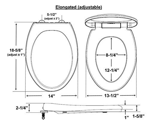 Enjoyable Bath Royale Premium Elongated Toilet Seat With Cover Forskolin Free Trial Chair Design Images Forskolin Free Trialorg