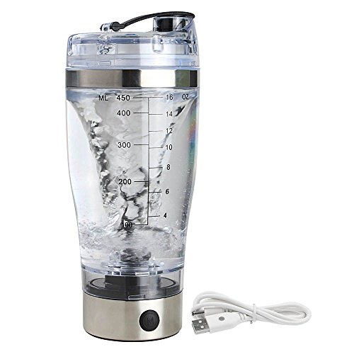 Electric Shaker Blender Water Bottle Automatic Vortex 450ml Detachable Mixer Cup by Mmrm (Image #9)'