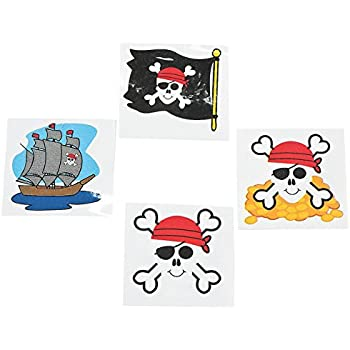 pirate tattoos favors 36 per package toy