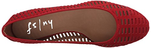French Sole Fs / Ny Mujeres Quartz Ballet Flat Red