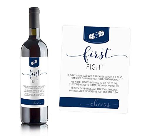 Wine Bottle Labels for bridal shower gift, wedding gift, Wedding milestones, Wedding Firsts (Husband & Wife) by Sblabels (Image #5)