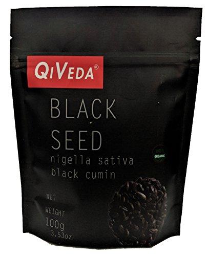 QiVeda Black Seed (Nigella Sativa) [Black Cumin] | USDA Organic | 100 gram (3.53 oz)