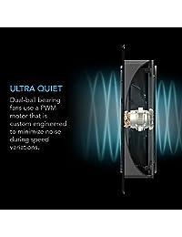 AC infinity airplate T9, silencioso ventilador de refrigeración Sistema con, para cine en casa AV Gabinetes de control del termostato