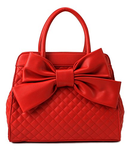 Scarleton Quilted Satchel H104810N - (Red Purse)