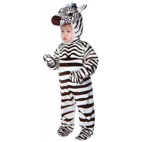 Underwraps Costumes Baby's Zebra Costume Jumpsuit, White, Medium (18 - 24 -