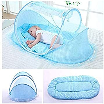 SUPOW Baby Mosquito Net Bed Pink// Portable Infant Tent Folding Infant Travel Crib Mosquito Bed Summer