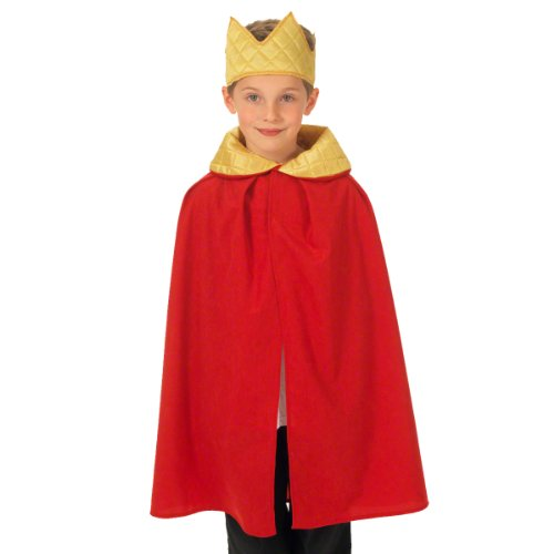Red King / Queen Cloak Costume for kids 3-9 Years