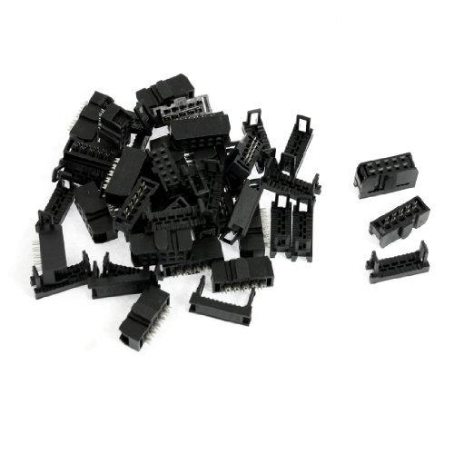 eDealMax 10 Pin IDC Plug Con la tensión del Cable de Cinta Plana Relief, 2,54 mm de paso, 50 Piezas