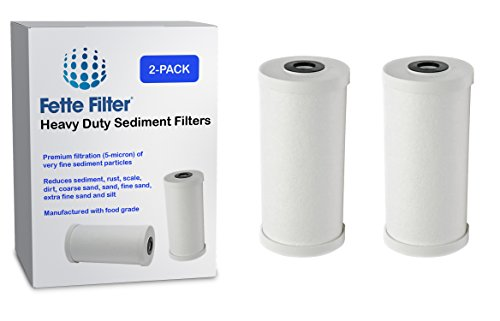 Fette Filter 2-Pack - GE FXHTC Compatible Premium Heavy Duty Sediment Replacement Cartridge. Also Replaces Culligan RFC-BBSA by Fette Filter