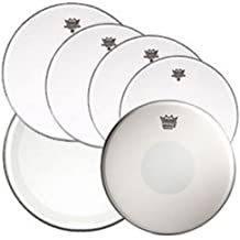"Remo Clear Emperor Standard Sizes Drum Head Pre Pack (with 14"" Emperor X Snare Drum Head and 22"" Clear Powerstroke 4 Bass Drum Head)"