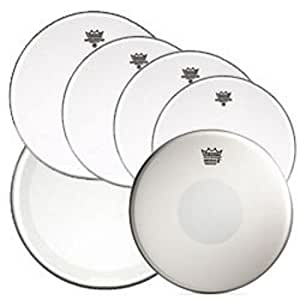 remo clear emperor standard sizes drum head pre pack with 14 emperor x snare drum. Black Bedroom Furniture Sets. Home Design Ideas