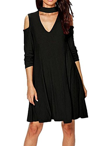 Buy black halter neck cut out dress - 2