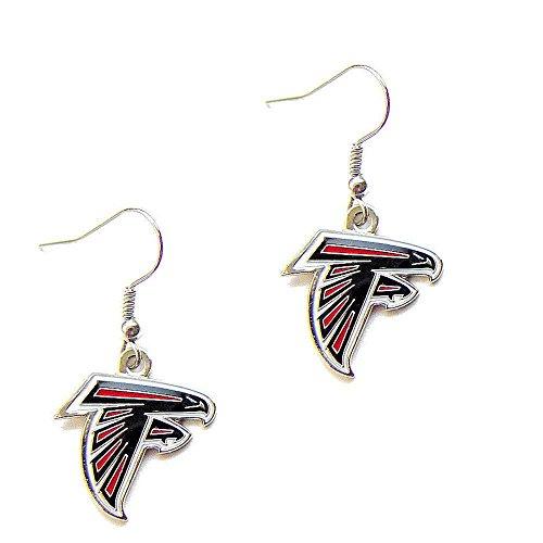 Falcon Logo Charm - aminco Atlanta Falcons Dangle Logo Earring Set Charm Gift