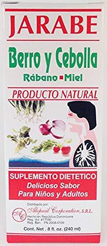 Jarabe Berro y Cebolla Rabano-Miel 8 Oz. Watercress and Onion Radish-Honey