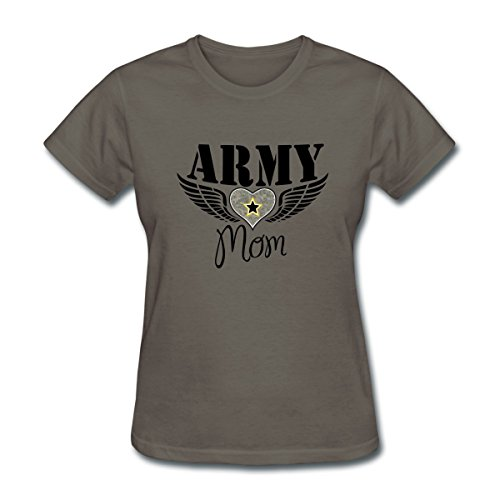 Army Mom Womens T-shirt (Spreadshirt Army Mom Winged Heart Women's T-Shirt, XL, Charcoal)