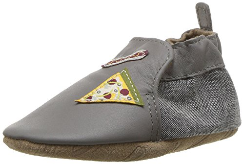 Robeez Boys' Soft Soles Crib Shoe, City Life-Grey, 6-12 Months M US - Athletic Shoes Robeez