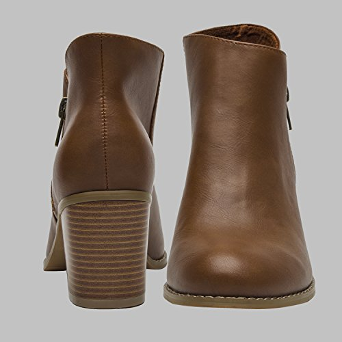 Pictures of Luoika Plus Size Wide Width Ankle BootsWomen 3