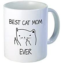 Best cat mom ever - Best funny gift - 11OZ Coffee Mug - Perfect for birthday, women, present for her, daughter, sister, wife, girlfriends or friend.