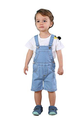 Kidscool Baby & Toddler Girls/Boys Bibs Light Blue Summer Jeans Shortalls,Light Blue,2-3 Years by Kidscool