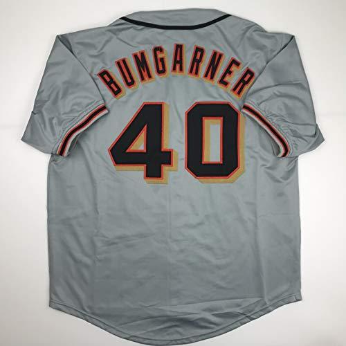 Unsigned Madison Bumgarner San Francisco Grey Custom Stitched Baseball Jersey Size Men's XL New No Brands/Logos ()