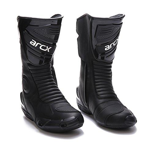 [해외]오토바이 부츠 레이스 부츠 장화 세련 오프 로드 부츠 고급 캐주얼 신발 방수 미끄럼 방지 블랙 (24.5-28.5) / Bike Boots racing boots shoes fashionable off-road boots cowhide casual shoe waterproof anti-skid black (24.5-28.5)