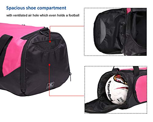 d454e92a7f1a MIER Small Gym Sports Bag for Men and Women with Shoes Compartment ...